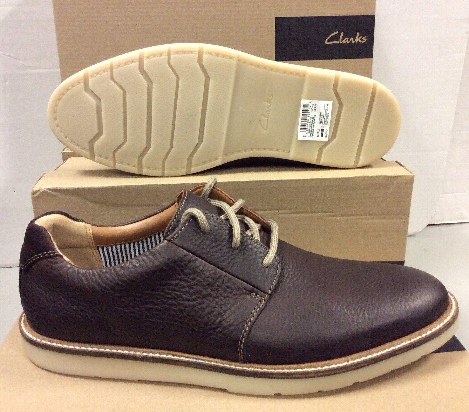 Clarks Grandin Plain Dark braun Leather Mens schuhe UK 9   EUR 43