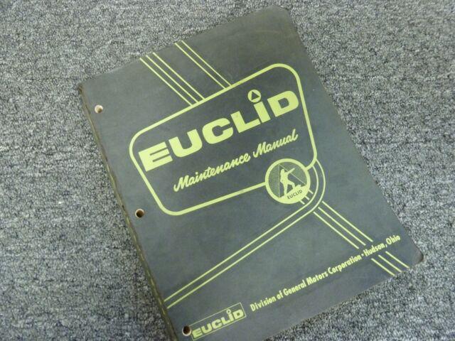 Euclid 38fd 49fd 53fd 55fd 56fd Dump Truck Hauler Shop
