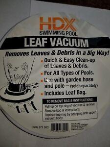 Details About Hdx For Home Depot Pool Vacuum Cleaner Universal Leaf Eater Gulper Bag