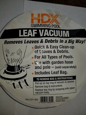 Hdx For Home Depot Pool Vacuum Cleaner Universal Leaf