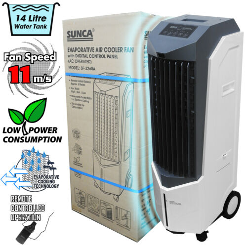 Commercial Evaporative Air Conditioning System Air Cooler 14L Tank Large Office