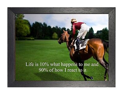 6 Horse Racing Inspirational Print Motivation Photo Determination Sports Poster