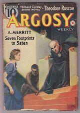 Argosy June 24 1939 Pulp Seven Footprints To Satan A Merritt Murray Leinster