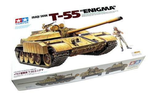 Tamiya 1 35 35324 - Iraqi T-55 Tank Tank Tank Enigma + MB 35B41 Aluminium Barrel f7f4b3