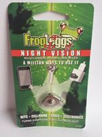 Frog Leggs Night Vision World's Smallest Stick On Led Light - Silver Case- Nip