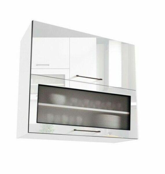 White Gloss Kitchen Cabinets Ebay: White Gloss Kitchen Unit Cabinet Cupboard Wall Glass 80cm