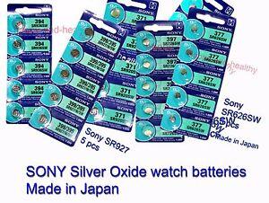 Sony-Silver-Oxide-baterias-377-371-394-395-364-y-otros-Gastos-de-envio-GRATIS