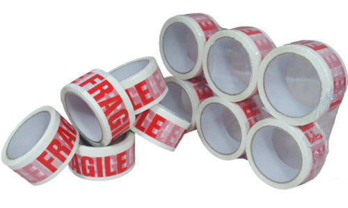 6 Rolls Of LOW NOISE FRAGILE Packing Tape 48mm x 66M