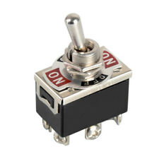 2 x Heavy Duty Toggle Switch DPDT On-Off-On Switch 6 Terminal Car Boat 20A 125V
