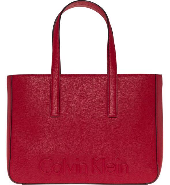 Calvin Klein Edge Medium Shopper Borsa Scarlet