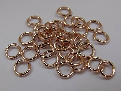 Rose Gold Filled Open Jump Rings (0.6mm wire, approx. AWG 22). Pack of 10