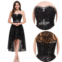 Cheap~Sequins Bridesmaid Wedding Prom Dresses Formal Evening Party Cocktail Gown