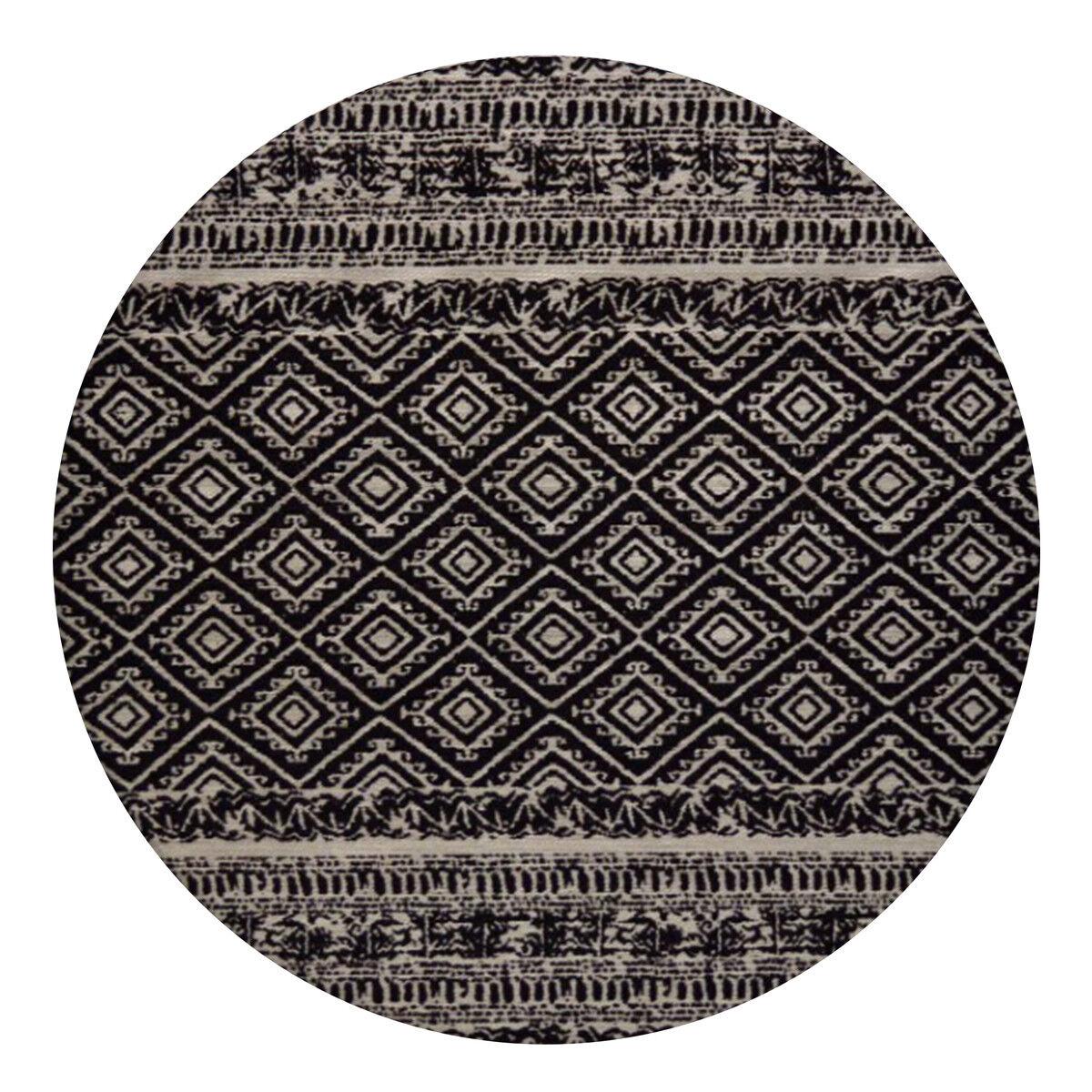 Confectionnées Indoor Outdoor Tapis Maya Aztèque Aztek Tapis Noir 160x160cm