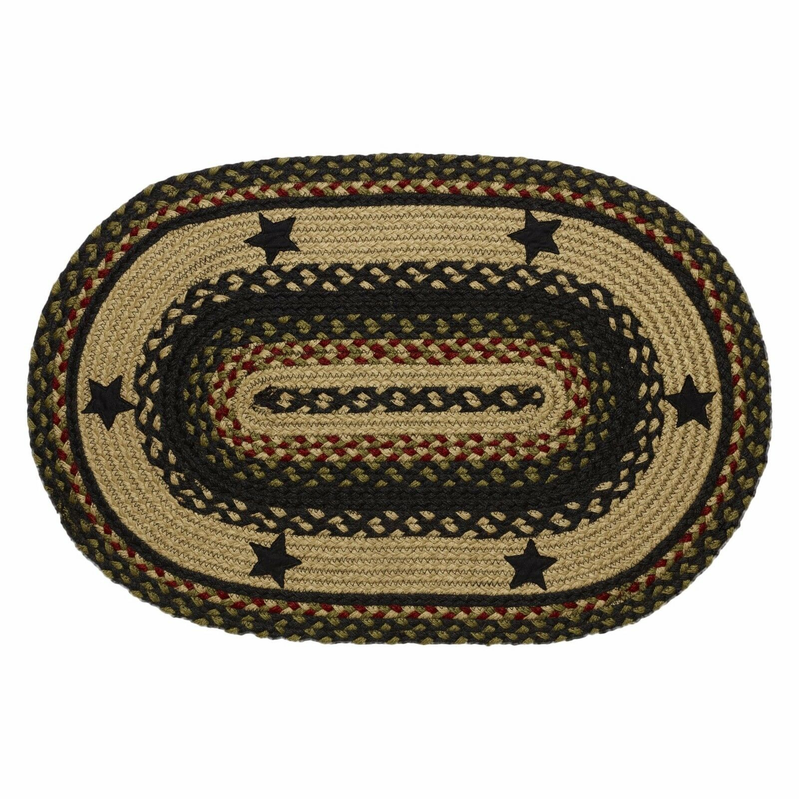 "Braided Rugs: IHF Home Decor Braided Area 22"" X 72"" Oval Carpet Accent"