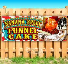 Banana Split Funnel Cake Advertising Vinyl Banner Flag Sign Many Sizes Fair Food
