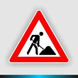 Verkehrsschild-Baustelle-Schild-123-Arbeitsstelle-refl-StVO-RAL-Befestig