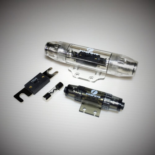 ANL with 2 Extra Fuses and AGU 60A, 4 AWG 150A, 0 AWG Fuse Holders  Combo