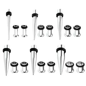 BodyJ4You-18PC-Gauges-Kit-Ear-Stretching-14G-00G-Tapers-Tunnels-Piercing-Set