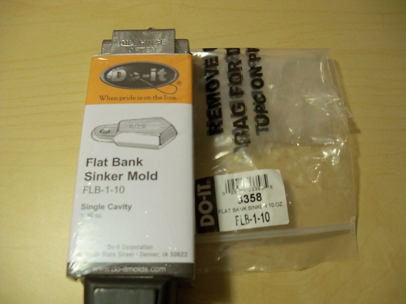 3358 NEW DO-IT SINKER MOLD FLAT BANK SIZE 10 oz., FLB-1-10