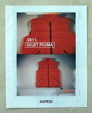 C258-Advertising Pubblicità-1998- ASPESI 3911 GILET PIUMA