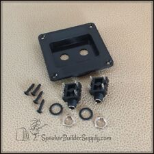 Plastic speaker jack dish for dual 1/4 jacks -empty dish or complete with jacks
