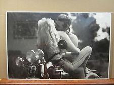 Vintage Hot Girl guy Kim Butkoswski Mike Granata Poster motorcycle man cave 2710