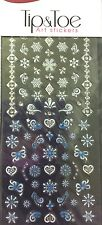 Kiss Pretty Hearts & Snowflakes Tip & Toe Nail Decal Art Stickers # 63373 DNA04X