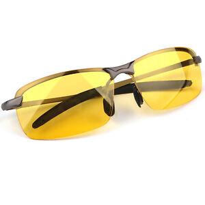 080677a0166 Men s Night Driving Glasses HD Anti Glare Vision Polarized Yellow ...