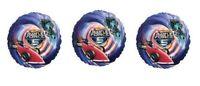 3 Hot Wheels Battle Force 5 Foil Balloons - 3 Hotwheels Foil Balloons
