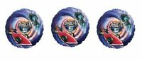 3 Hot Wheels Battle Force 5 Foil Balloons - 3 Hotwheels Foil Balloons