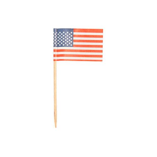 """5000 Deko Picker 8 cm /""""Amerika/"""" Party Spieße Flaggenpicker Fahnenpicker USA"""
