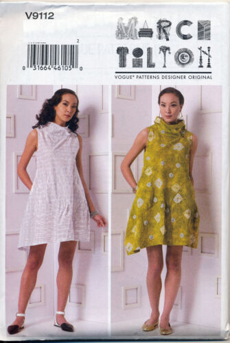 VOGUE SEWING PATTERN 9112 MISSES 4-14 MARCY TILTON LOOSE-FITTING PULLOVER DRESS