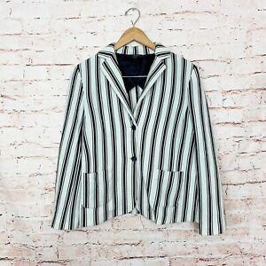 Weekend Max Mara Stripe Dual Pocket Blazer Womens Size Large