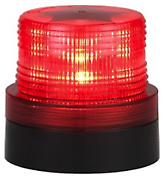Battery Operated RED LED Beacon Safety Flashing Light Warning Magnetic Mount