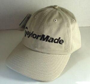 TAYLORMADE-Tan-Khaki-Cotton-GOLF-Hat-Ball-Cap-Mens-Size-OSFA-NEW-NWT