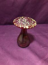 Vintage Blown Glass Mushroom Paperweight