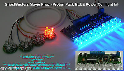 Ghost Busters Movie Prop - Proton Pack Power Cell light kit 10mm BLUE LEDs