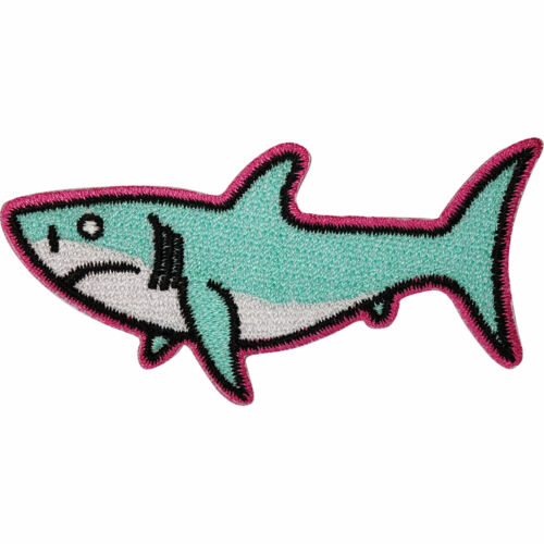 Shark Patch Iron Sew On Clothes Bag Jeans T Shirt Dress Fish Embroidered Badge