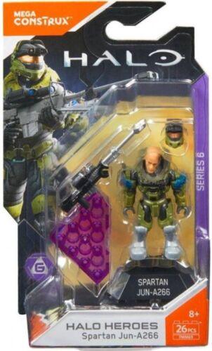 Mega Bloks Halo Mega Construx Heroes Series 6 Spartan Jun-A266 Mini Figure