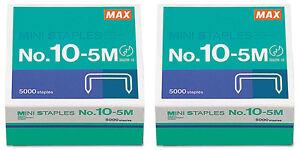 034-Mini-Staples-for-use-in-Max-HD-10DF-Stapler-3-8-034-034-Crownx3-16-034-034-Leg-5000-Box-MXB