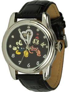 DISNEY-Reloj-Automatico-con-Mickey-amp-Minnie-motivo-Cubierto-Circonia-emb-orig