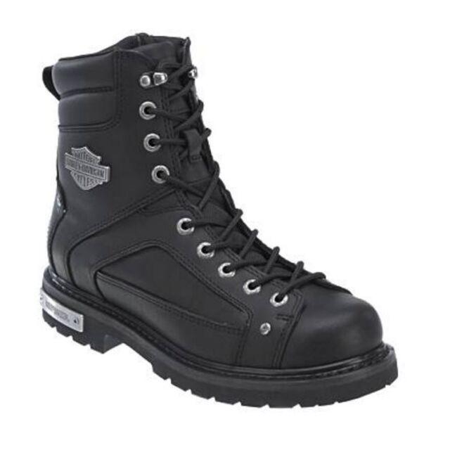 Harley Davidson Black Leather Abercorn Motorcycle Boot D93340 Men 12 M