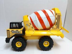 Hasbro-Tonka-Cement-Mixer-2006-Steel-Plastic-Yellow-USA