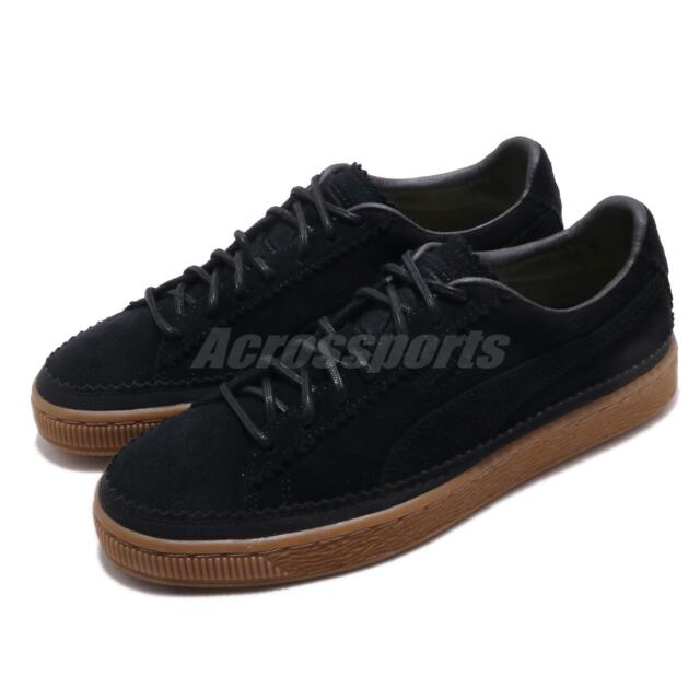 the best attitude 2984e a2920 Puma Suede Classic Brogue Black Gum Men Women Casual Shoes Sneakers  366631-01