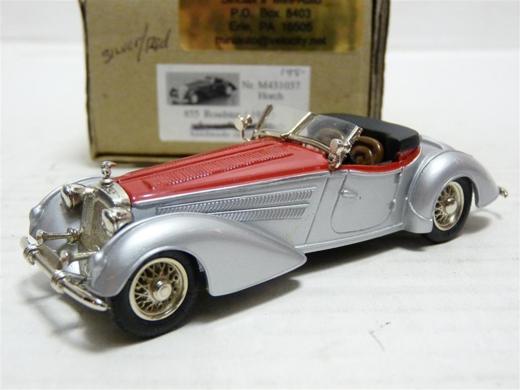 Tin Wizard M431037 1 43 1937 Horch  855 Roadster blanc Metal Handmade Model voiture  les ventes chaudes