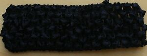 (6) NEW Black Crochet Girls Headbands - One Size Fits All - Lot of 6