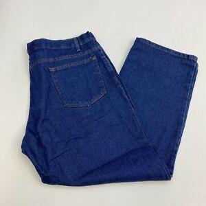 WearGuard-Denim-Jeans-Mens-42X30-Blue-Straight-Leg-Classic-Fit-Medium-Washed