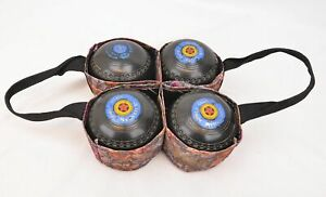 Henselite Classic Deluxe Bowls and Welkin Carrier - Size 4 Heavy