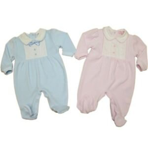 642ca350b0651 Baby Clothes Spanish Romany Velour Sleepsuit All In OneNB-6 Mth Girl ...