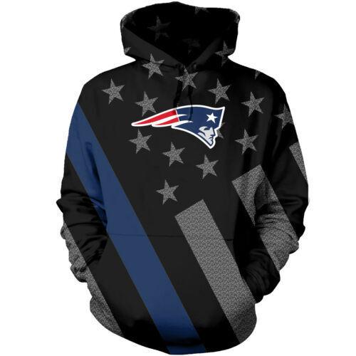 New England Patriots Hoodie Hooded Sweatshirt Pullover Football Women Men